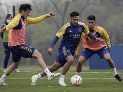 Entrenamiento reciente de Boca Juniors.