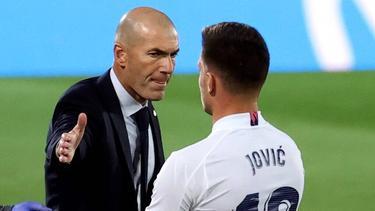 Zidane und Jovic: Trennung auf Zeit