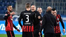 Eintracht Frankfurt gewann das Auswärtsspiel bei der TSG Hoffenheim