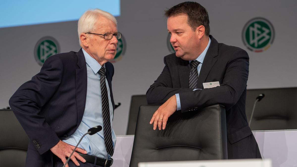 Stephan Osnabrügge (r.) will sich beim nächsten DFB-Bundestag nicht mehr zur Wiederwahl stellen
