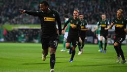 Alassane Pléa erzielte gegen Werder Bremen alle drei Tore für die Borussia