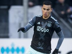 Anwar El Ghazi begint tegen FC Utrecht opnieuw in de basis bij Ajax. De vleugelaanvaller staat nadrukkelijk in de belangstelling van het Franse Lille. (22-01-2017)