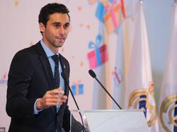 Arbeloa en una comparecencia de la Fundación Real Madrid.