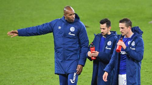 Naldo (l.) ist Co-Trainer von Manuel Baum beim FC Schalke 04