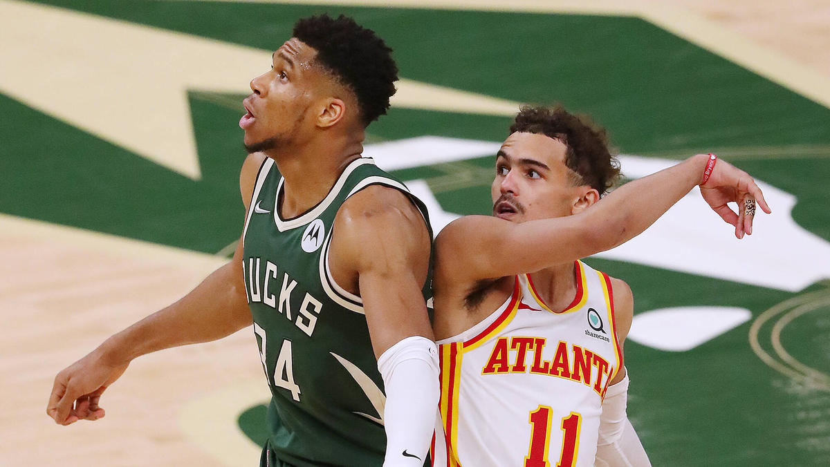 Die Milwaukee Bucks um Giannis Antetokounmpo (l.) verloren gegen die Hawks
