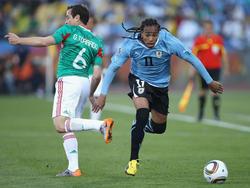 Gruppenspiel zwischen Uruguay und Mexiko bei der WM 2010 in Südafrika