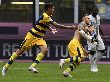 Dimarco hizo el único tanto del encuentro en Milán. (Foto: Imago)