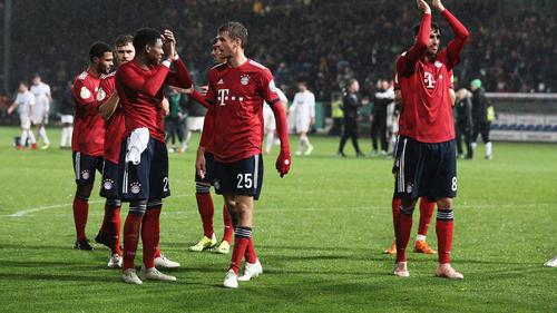 Die Bayern quälten sich gegen Rödinghausen in die nächste Runde
