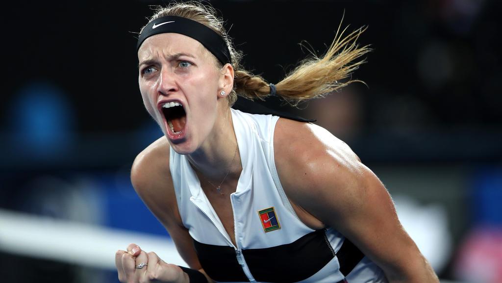 Gewann glatt in zwei Sätzen: Petra Kvitova