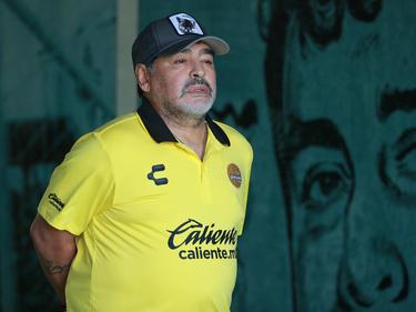 Maradona en una imagen de archivo con los Dorados. (Foto: Getty)