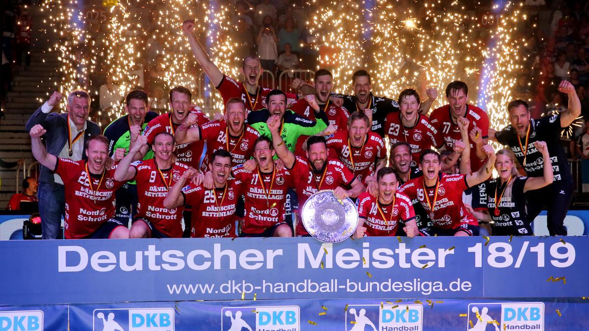 Die Flensburger feierten die erfolgreiche Titelverteidigung