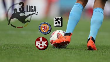 Der 1. FC Kaiserslautern, Eintracht Braunschweig und 1860 München treten zum zweiten Mal in Folge in der 3. Liga an