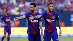 Messi y Neymar compartieron camiseta en 2017.