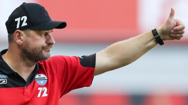 Paderborns Trainer Steffen Baumgart hofft auf ein gutes Spiel gegen den FC Bayern