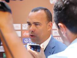 Dudamel atiende a los medios en el sorteo de las clasificatorias para el Mundial.