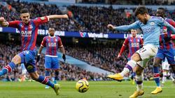 Für David Silva (li.) und Manchester City reichte es gegen Crystal Palace nur zu einem Remis