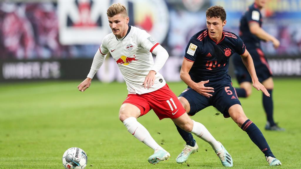 Timo Werner und RB Leipzig treffen am Sonntag auf den FC Bayern