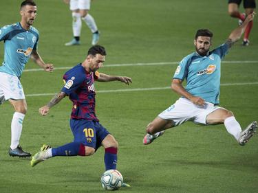 Messi hizo lo que pudo ante Osasuna.