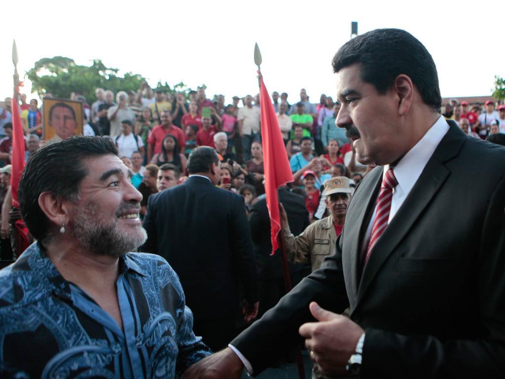 Diego Maradona und Venezuelas Präsident Maduro waren befreundet