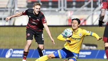 Nürnberg mit Nullnummer gegen Braunschweig
