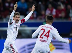 Müller freute sich über ein Tor und sein Fohlen