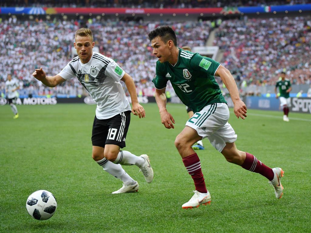Hirving Lozano (r.) traf beim Gruppenspiel gegen Deutschland zum Sieg
