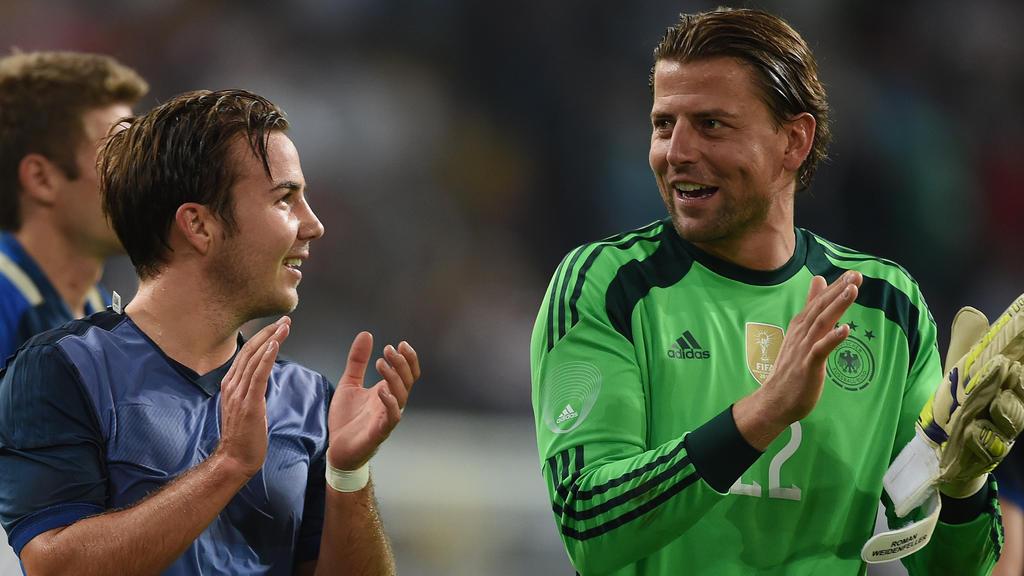 Roman Weidenfeller (re.) glaubt an ein Comeback von BVB-Star Mario Götze