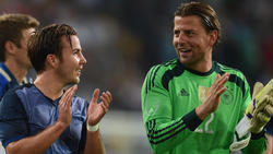 Roman Weidenfeller (r.) glaubt an ein Comeback von BVB-Star Mario Götze