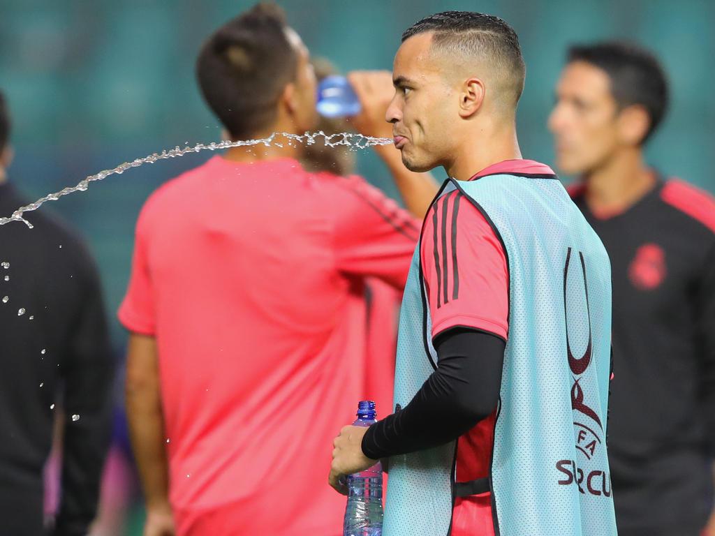 Raúl de Tomás en un entrenamiento con el Real Madrid. (Foto: Getty)