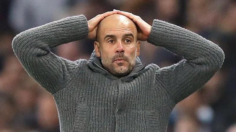 Pep Guardiola war sichtlich schockiert