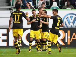 El Dortmund se ha dado un festival de goles fuera de casa. (Foto: Getty)