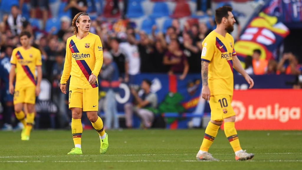 Für Barca war die Blamage bei Levante UD bereits die dritte Saisonpleite
