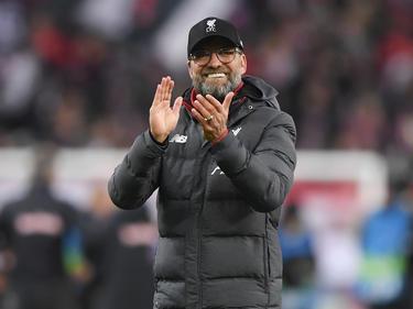 Jürgen Klopp freut sich über den Einzug ins Achtelfinale der Champions League