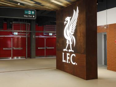 Interiores del estadio de Anfield en Liverpool.