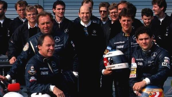 Michael Schumacher fuhr als Mercedes-Junior für das Team von Peter Sauber