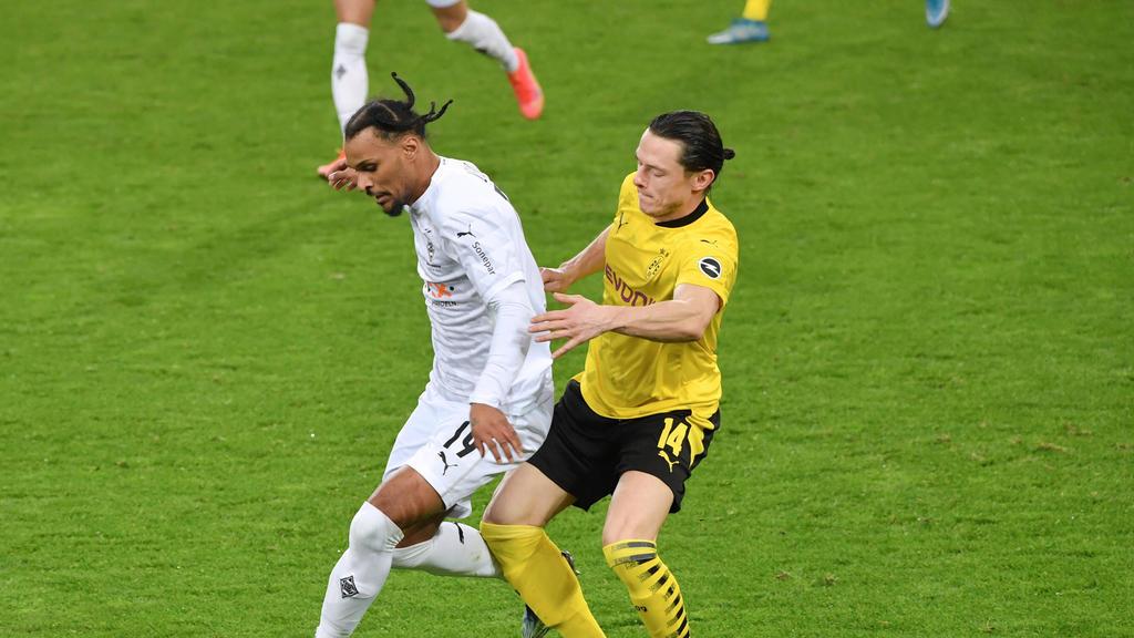 Nico Schulz (r.) leitete den Siegtreffer des BVB gegen Gladbach ein