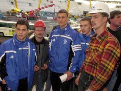 Profis begutachten Schalker Baustelle