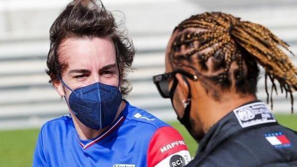 Fernando Alonsos (l.) Aussage war nur ein Missverständnis