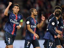 Los futbolistas del Paris Saint-Germain celebran un gol. (Foto: Getty)