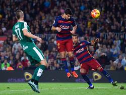Hattrick durch Luis Suarez gegen Eibar
