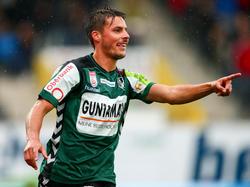 Clemens Walch gelingt gegen Altach ein Tor und ein Assist
