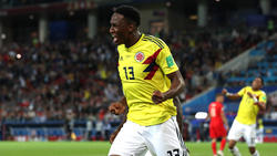 Yerry Mina con la camiseta de colombia.