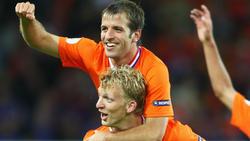 Rafael van der Vaart und Dirk Kuyt verabschieden sich aus der Elftal