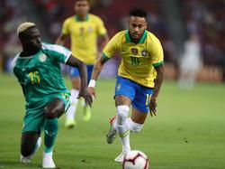 Neymar se marchó con el casillero de goles vacío.