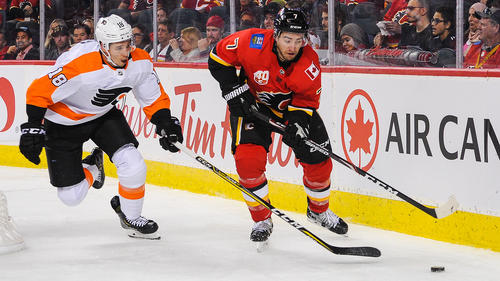 Die Calgary Flames feierten einen Heimerfolg über die Philadelphia Flyers