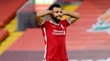 Salah acudió a su cita con el gol con un triplete.