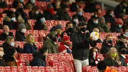 Die englischen Fans sollen zurückhaltend jubeln