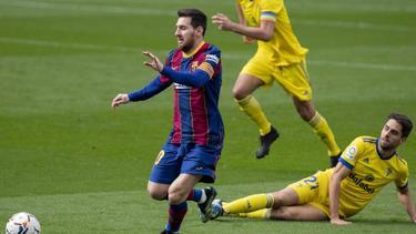 Messi sólo pudo anotar desde el punto de penalti.