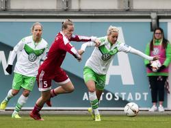 Im CL-Einsatz: Die Frauen des 1. FFC Frankfurt und VfL Wolfsburg