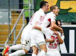 El Stuttgart se dio un festín ante el City en el amistoso de este sábado. (Foto: Getty)